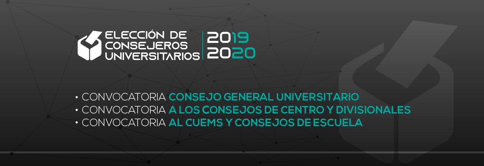 Elección de consejeros universitarios 2019 - 2020
