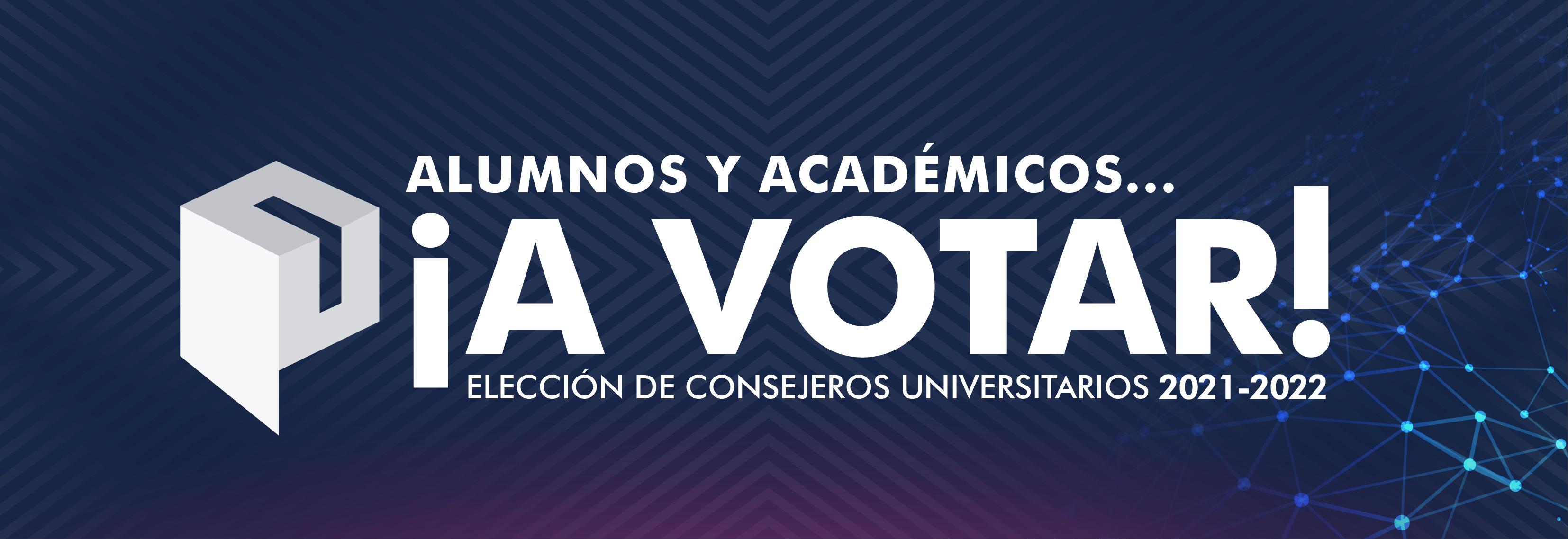 Elección de consejeros universitarios 2021 - 2022